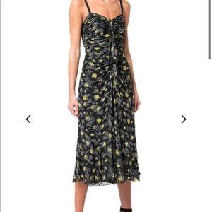 NWT CInq a Sept stunning floral silk dress